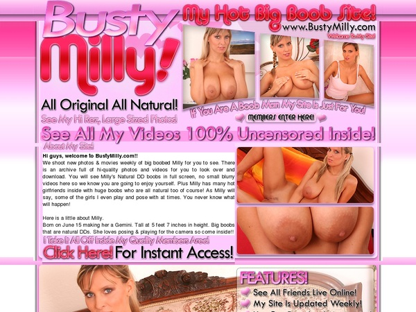 Bustymilly.com Pay Pal Account