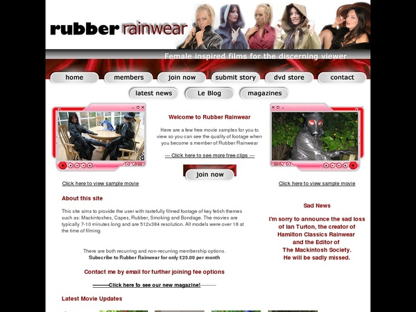 Rubberrainwear Free Passwords