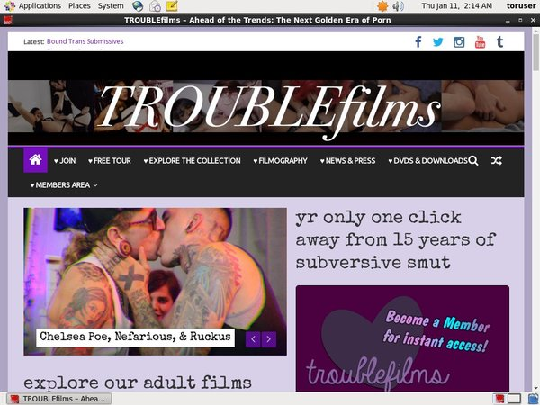 Trouble Films Membership Plan