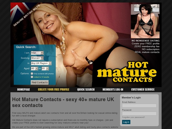 Hotmaturecontacts Daily Passwords
