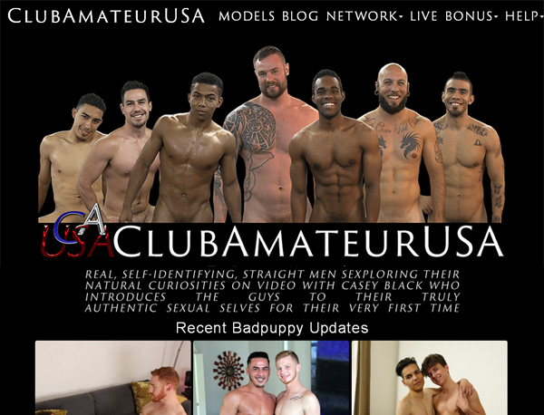Club Amateur USA Signup Page