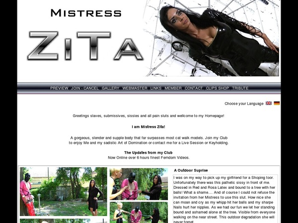 Mistress Zita Freebies