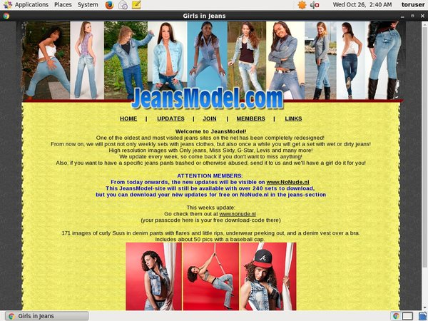 Jeans Model Password And Login